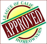 Hot water heater, tankless water heater, home water heater. Approved by the League of California Homeowners